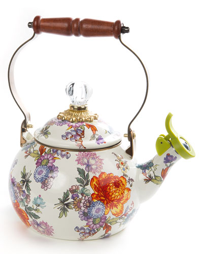 Flower Market Whistling Tea Kettle