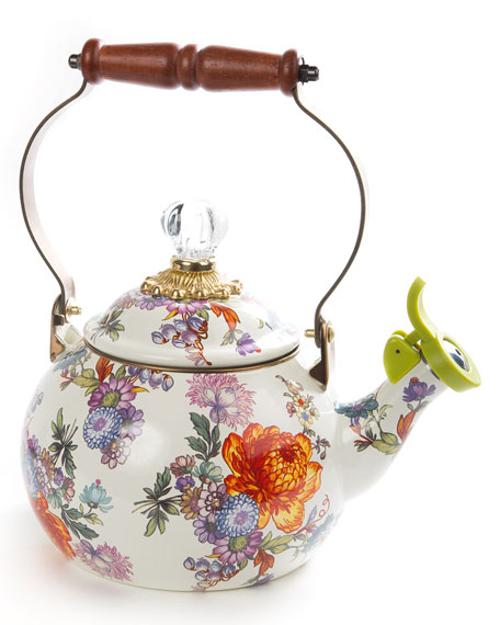 MacKenzie-Childs Flower Market Whistling Tea Kettle