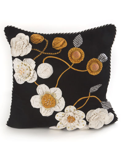 gardenia square pillow