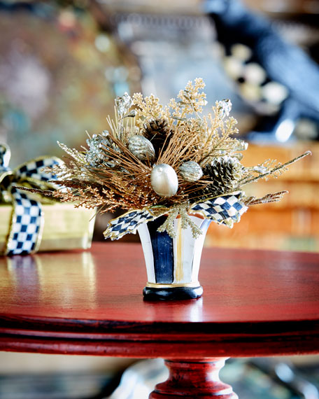 Precious Metals Nosegay Faux-Floral Arrangement