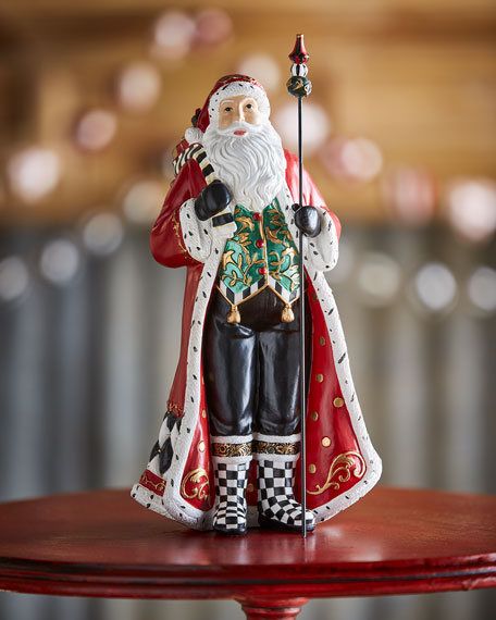 Holly Father Christmas Figurine, 12.5""