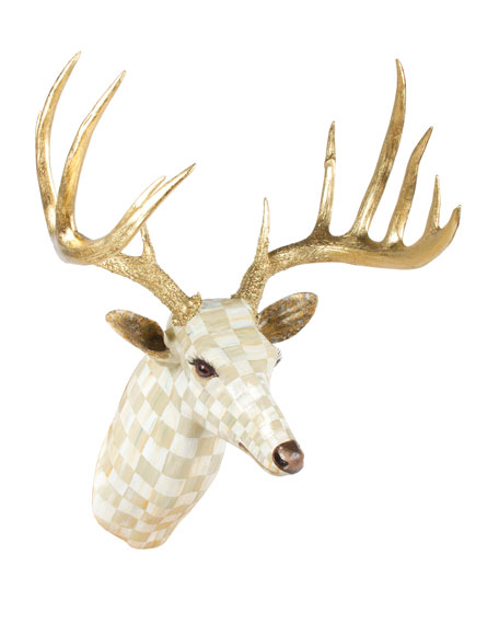 Parchment Check Deer Head