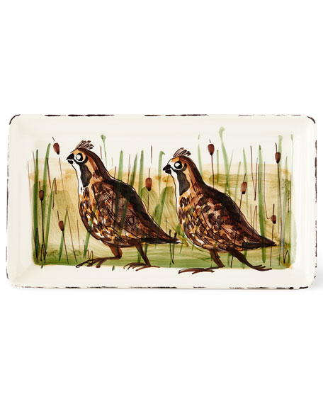 Wildlife Quail Rectangular Platter