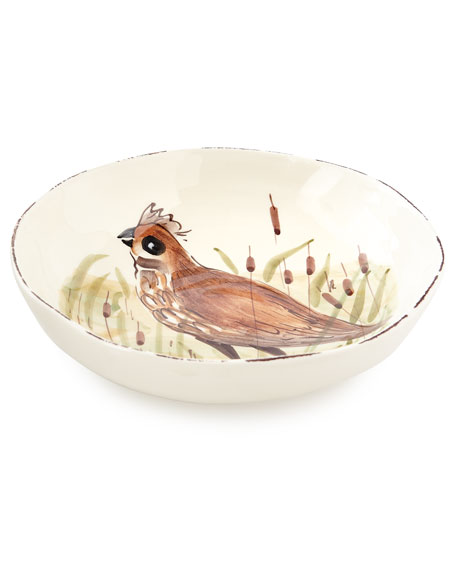 4 Assorted Wildlife Pasta Bowls