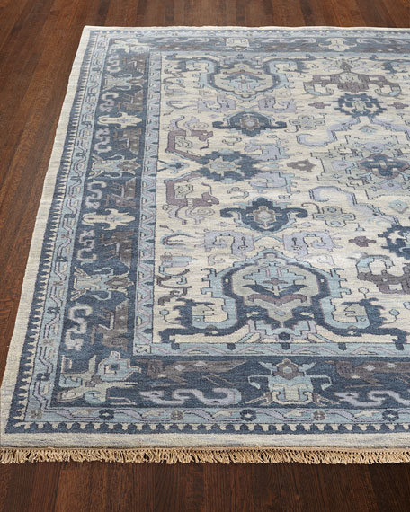 Castle Hand-Knotted Rug, 9' x 13'
