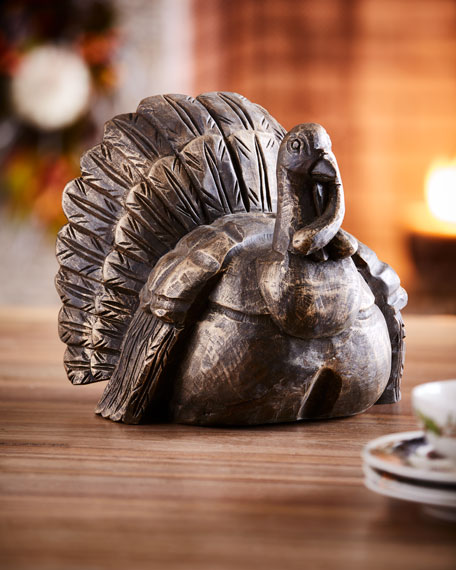 Fall Gatherings Collection Hand-Carved Wooden Turkey