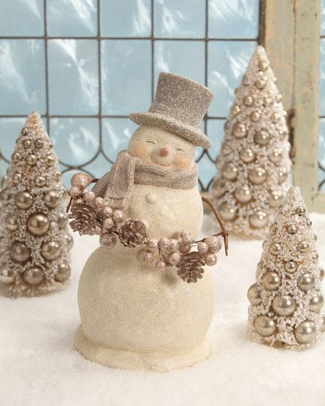 Smiley Snowman Figure