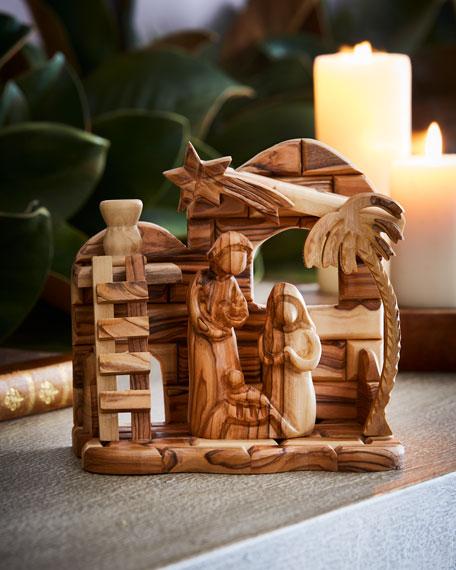 Olive Wood Nativity, 2 Piece
