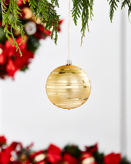 Gold & Glitter Collection Golden Swirl Ornament