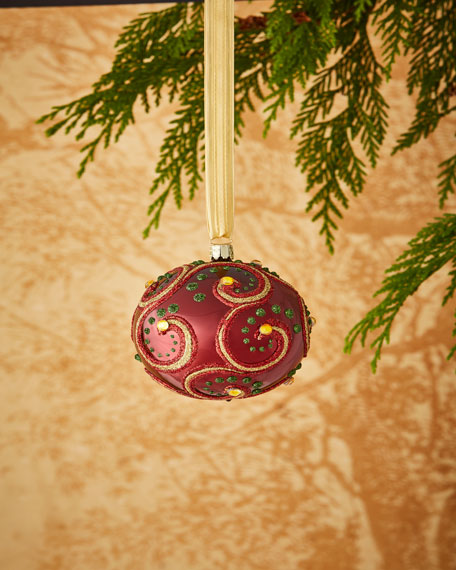 Gold & Glitter Collection Matte Golden/Silvery Glitter Ornament