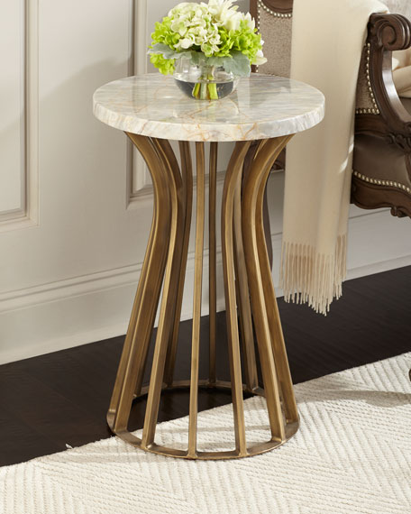 Jarred Marble Side Table