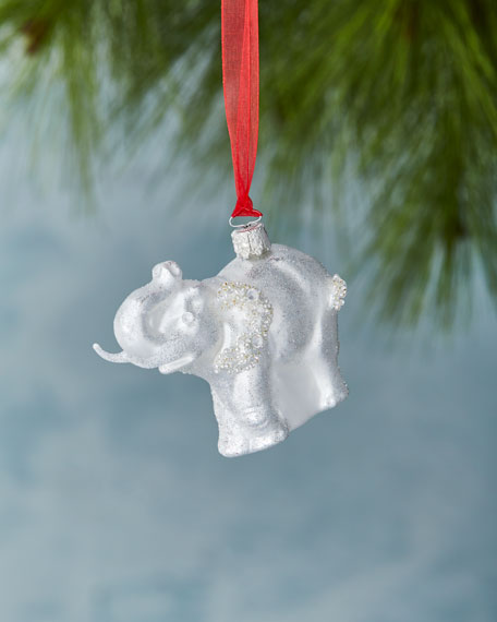 Glitz & Glam Elephant Christmas Ornament