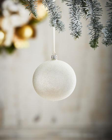 White & Silver Collection Silvery Glitter Ornament