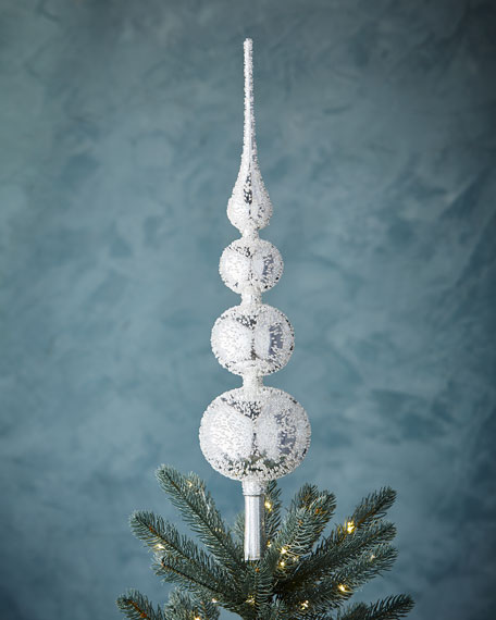 White & Silver Collection Silvery Finial