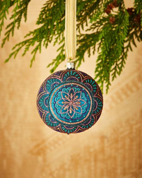 Matte Turquoise/Medallion Ornament