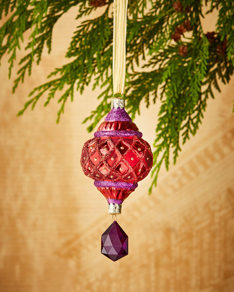Faux-Jewel Drop Christmas Ornament