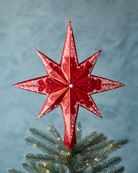 Ruby Stellar Christmas Tree Topper