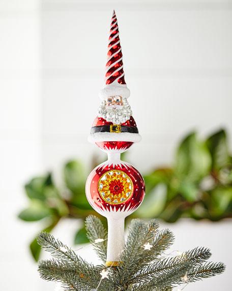 Swirl Santa Finial Tree Topper
