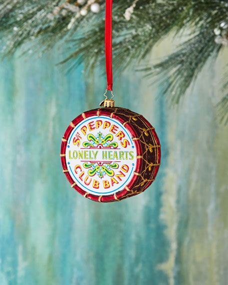 Beatles Large Sgt. Peppers Drum Ornament