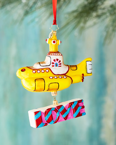 Beatles Yellow Submarine Ornament with Love