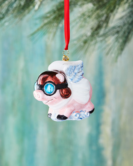 Pigs are Flying Christmas Ornament
