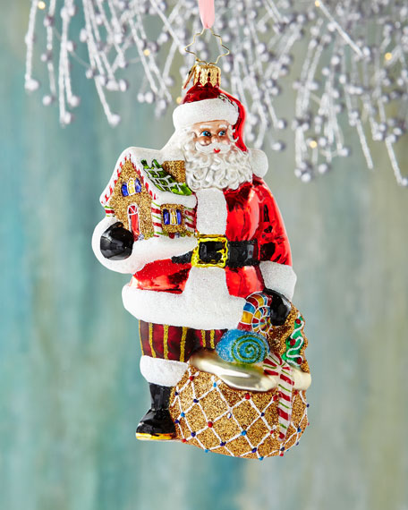Gingerbread Jubilee Santa Christmas Ornament