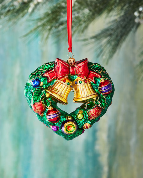 Heart-Shaped Wreath Christmas Ornament