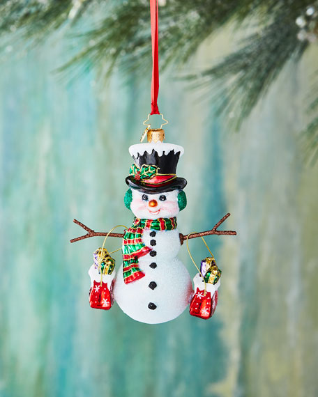 Shopping Spree Snowman Christmas Ornament