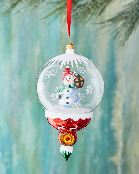 A Lantern Lights the Way Snowman Ornament