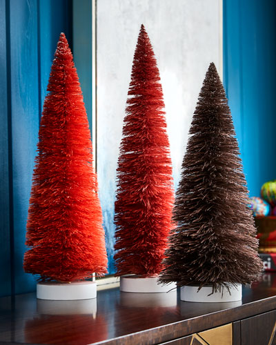 Set of 3 Large Trees, Red