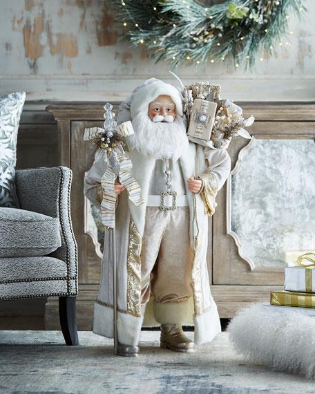 "White & Silver Collection Christmas Santa, 36"""