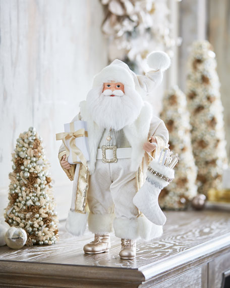 White & Silver Collection Santa, 18""