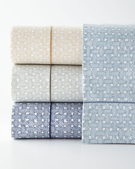 King Spencer Basketweave 4-Piece Sheet Set