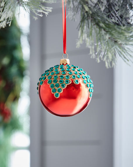 Red & Green Collection Shiny Bead Ornament