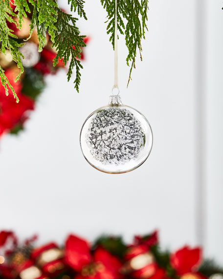 White & Silver Collection Shiny Silvery/Wreath Ornament