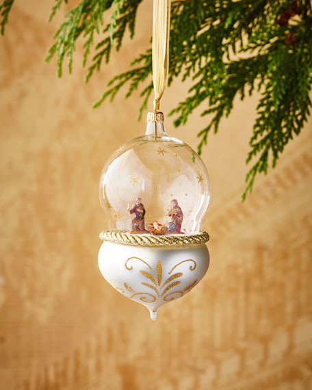 Nativity in Globe Christmas Ornament