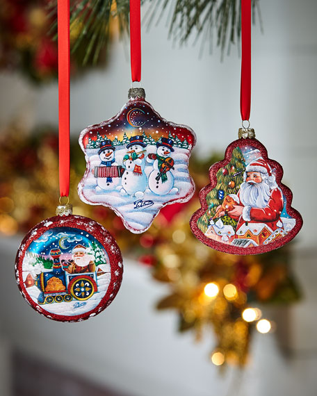 Christmas Ornaments, Set of 3