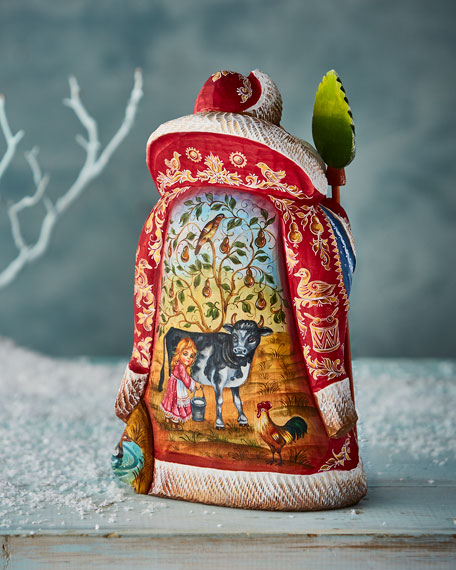 Limited-Edition Hand-Carved 12 Days of Christmas Santa
