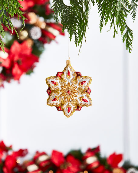 Gold & Glitter Collection Golden Snowflake Ornament