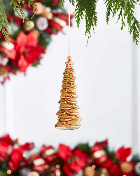 Gold & Glitter Collection Golden Tree Ornament