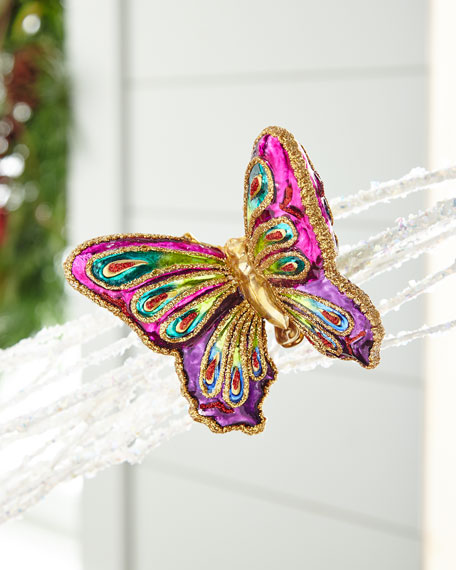 Playful Brights Collection Butterfly Clip Ornament