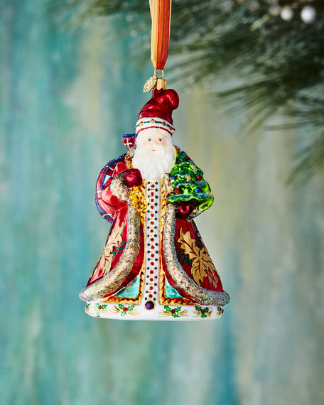 John Huras Santa with Tree Ornament