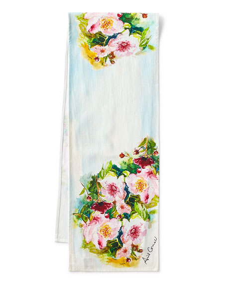 "Peony Table Runner, 72""L"