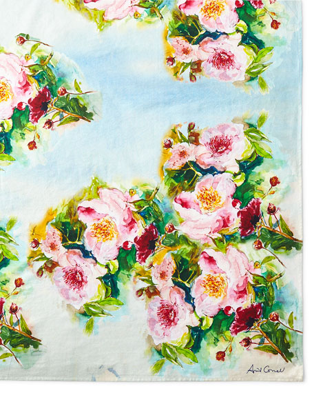 April Cornell Peony Tablecloth, 60