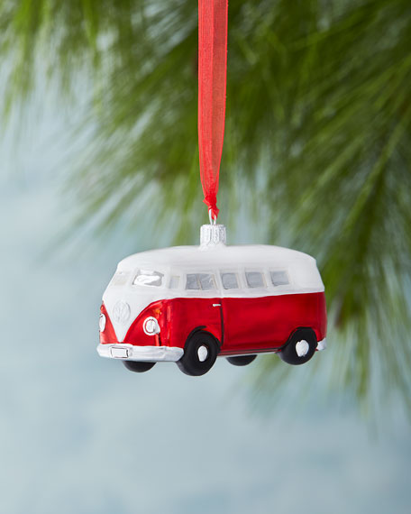"""Vintage"" Red Bus Ornament"