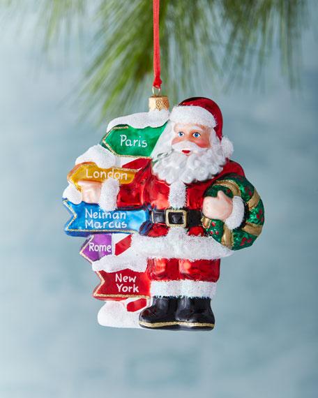 """Santa's Direction"" Ornament"
