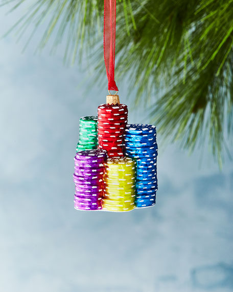 Poker Chips Ornament