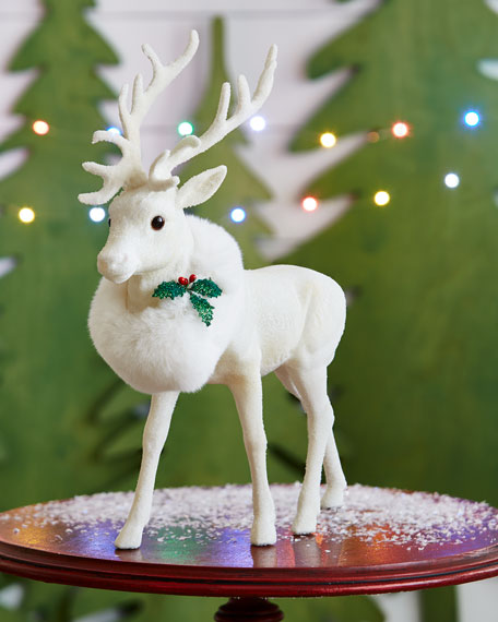 White Reindeer Collectible, Large