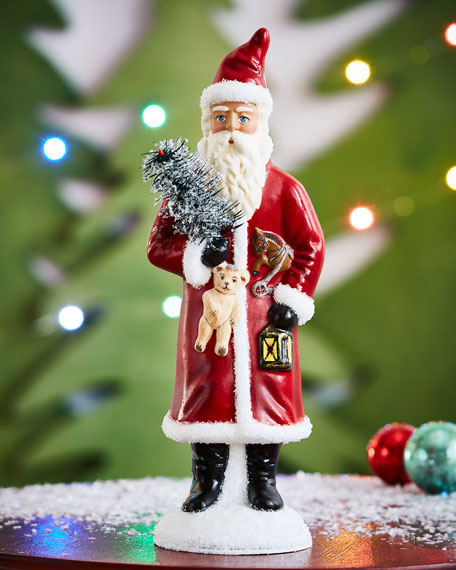 """Vintage Santa"" with Lantern Collectible"