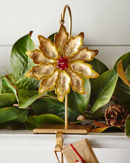 Flower/Golden Glitter Stocking Holder